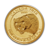 2018 1/4 oz Canadian Wolverine Gold Coin Reverse Image